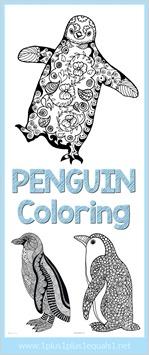 Penguin Doodle Coloring Pages