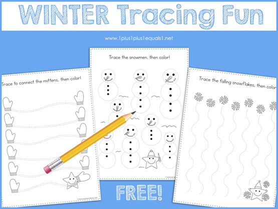 Tracing Fun for Winter