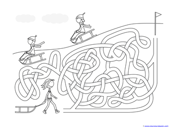 Winter Mazes for Kids (10)