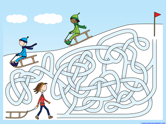 Winter Mazes for Kids (3)