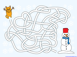 Winter Mazes for Kids (4)