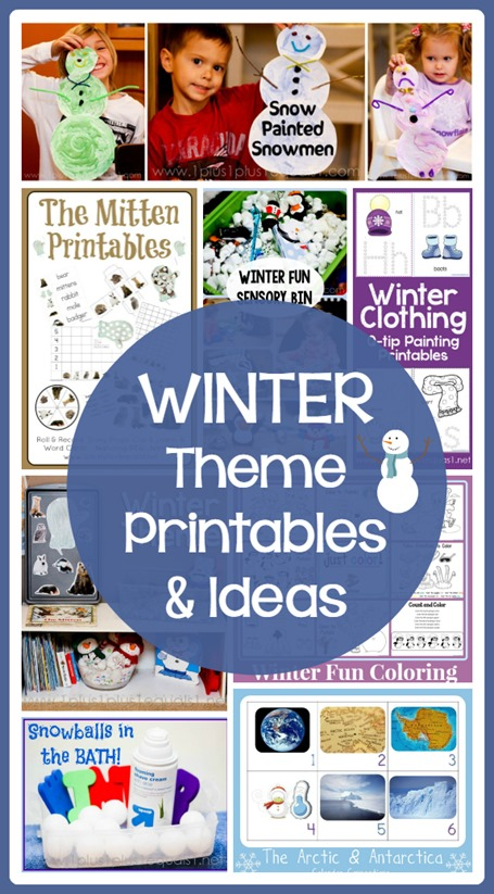 Winter Theme Printables and Ideas