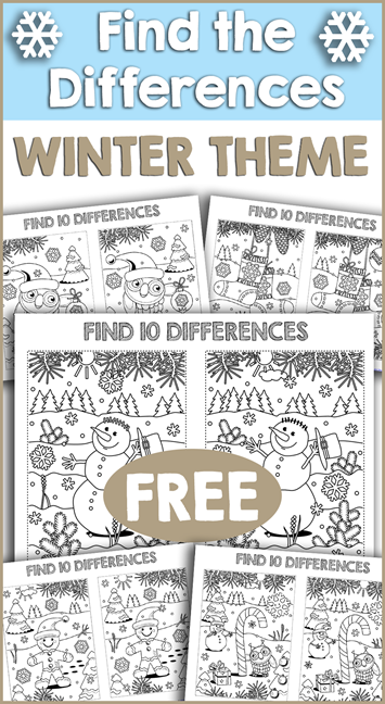 Find Ten Differences Winter Theme
