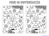 Find the Differences in the Picture WINTER Edition (6)