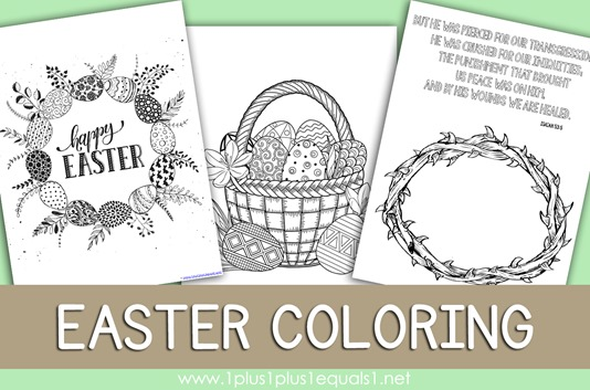 Easter Coloring Pages 2018