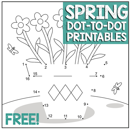 Spring Dot to Dot Worksheets