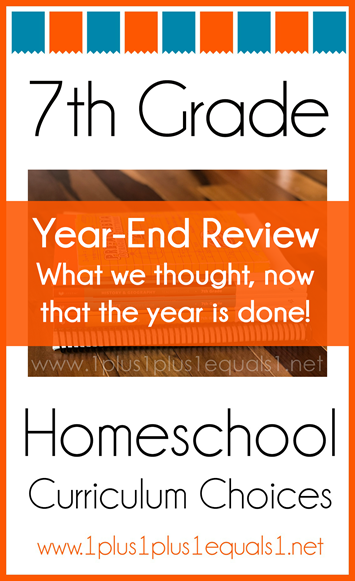 7th Grade Homeschool Curriculum Year End Review K