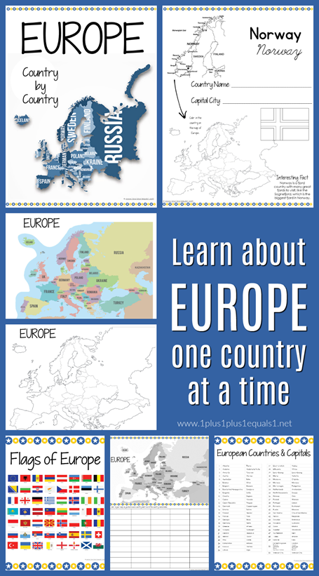 Europe Country By Country Printables