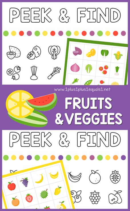 Peek & Find Fruits and Veggies
