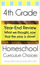 4th Grade Homeschool Curriculum Year End Review L