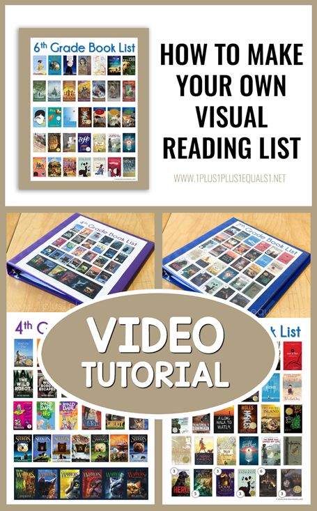 How to make your own visual reading list for your kids