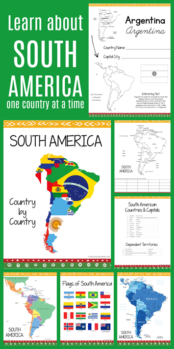 South America Country by Country Geography Curriculum