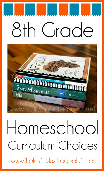 8th Grace Homeschool Curriculum Choices K