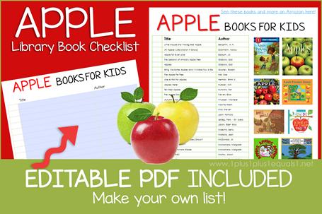Apple Books Editable Book Checklist