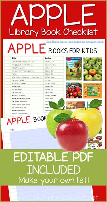 Apple Books Editable Library Checklist