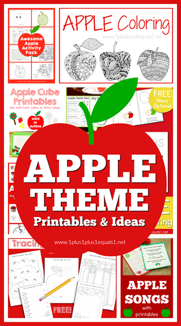 Apple Theme Printables and Ideas